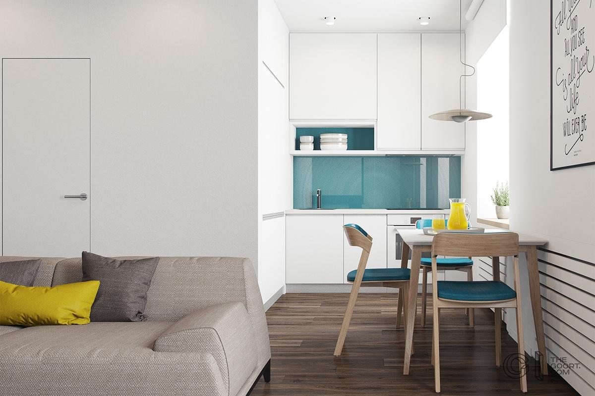Cocina de apartamento de menos de 50 metros cuadrados