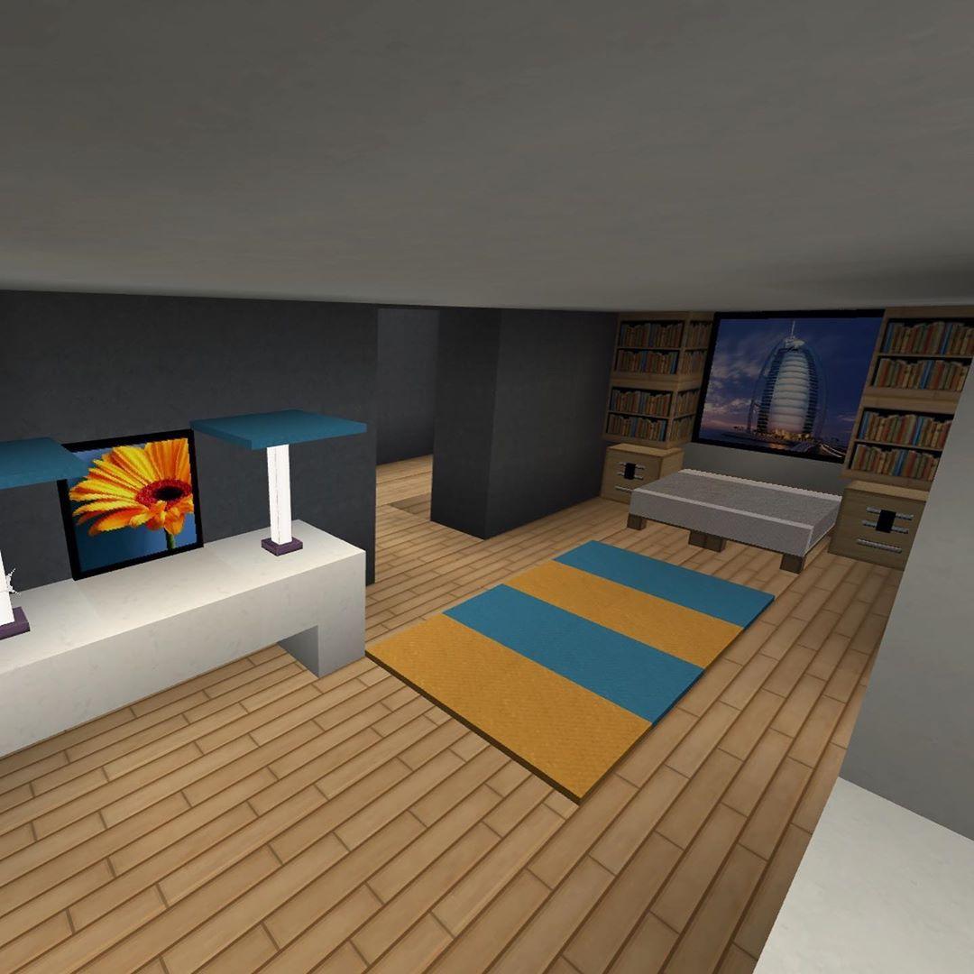 Diseño de interiores para planos de Minecraft