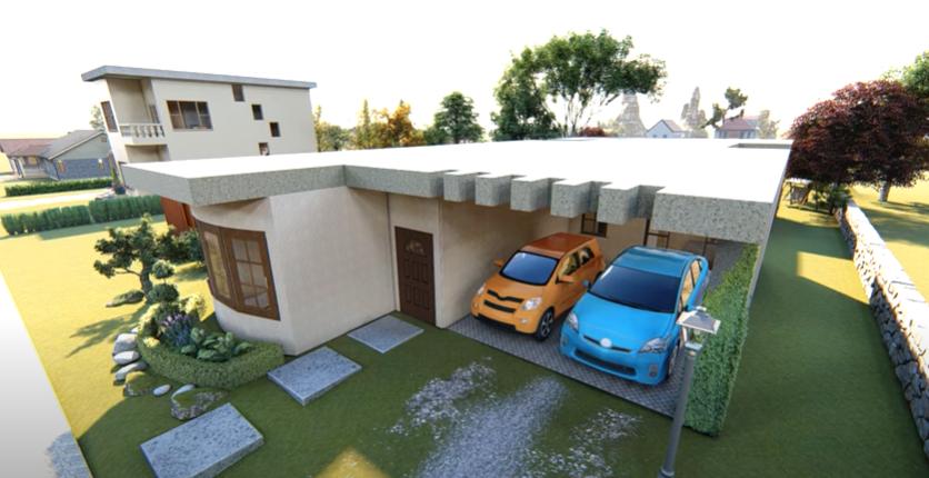 Fachada de casa 10x20 metros