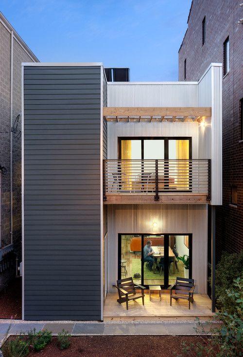 Fachadas de casas modernas con terraza