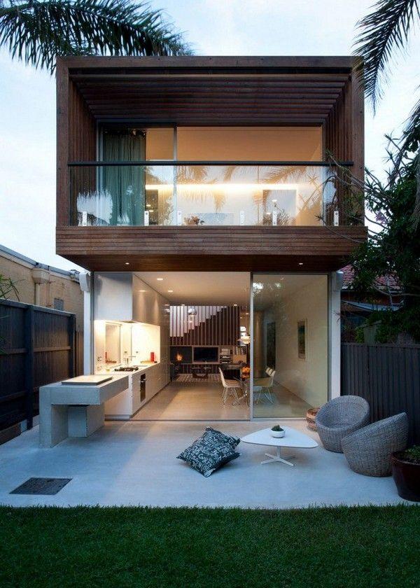 Fachadas de casas modernas con ventanales