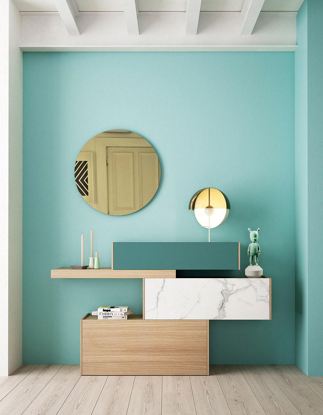 Ideas para decorar un recibidor moderno en tonos neutros