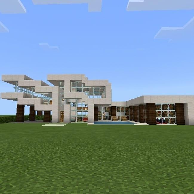 Planos de casas de Minecraft con desniveles
