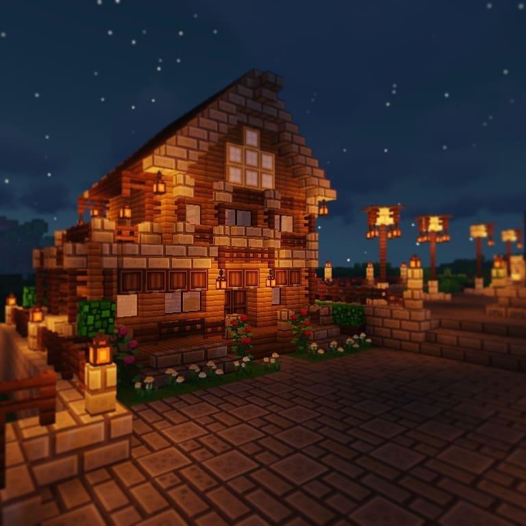 Planos de casas de Minecraft rústicas
