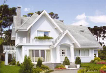 Casa americana elegante en color blanco