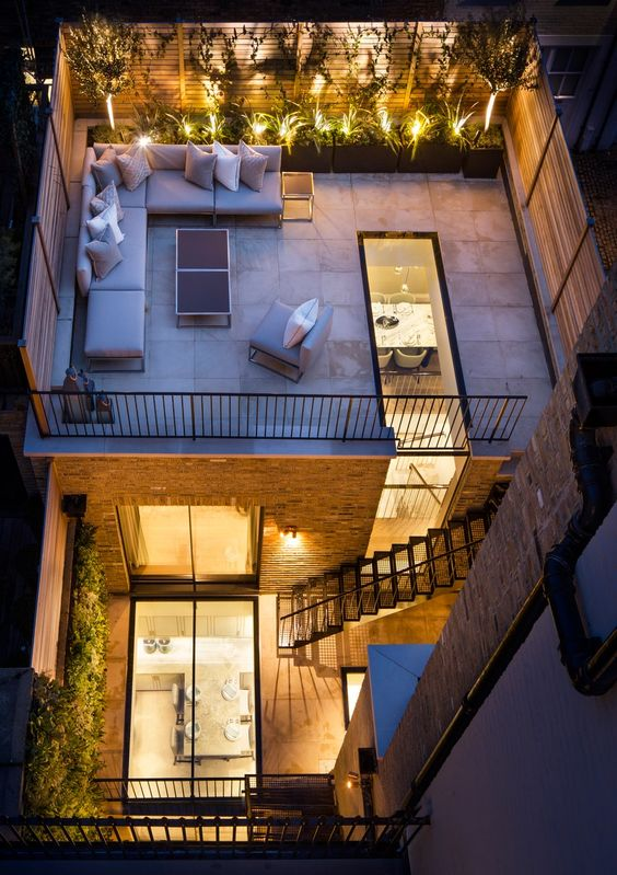 Casa con terraza en azotea