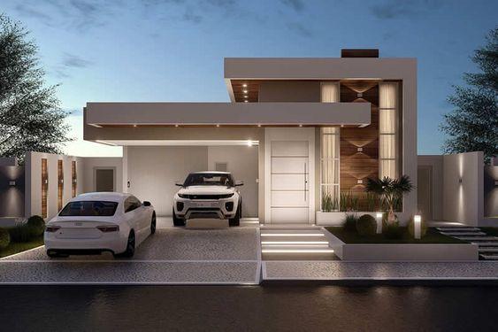 Casa de 2 pisos con estilo elegante