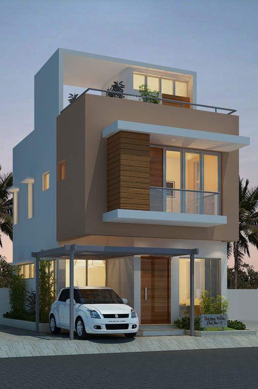 Casa de 3 pisos con terraza