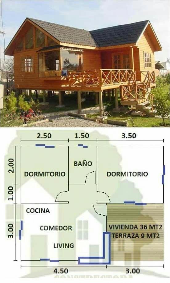 Casa de campo elevada