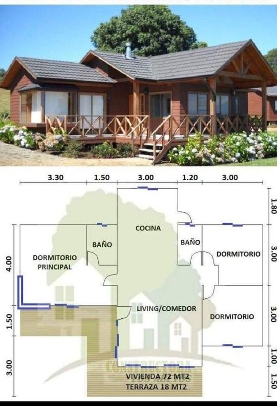 Casa de campo para familia