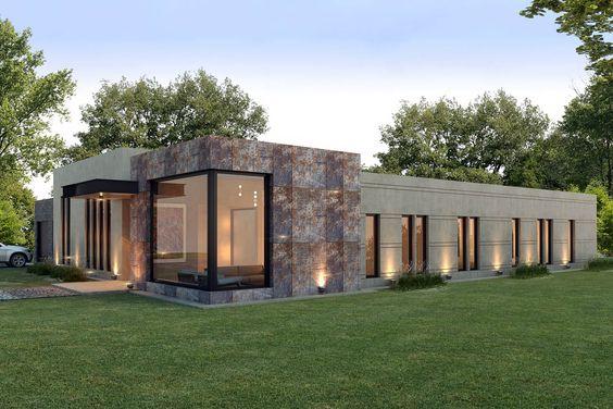 Casa moderna elegante de una planta