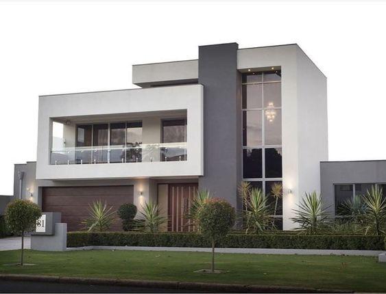 Casa residencial con fachada sin cochera