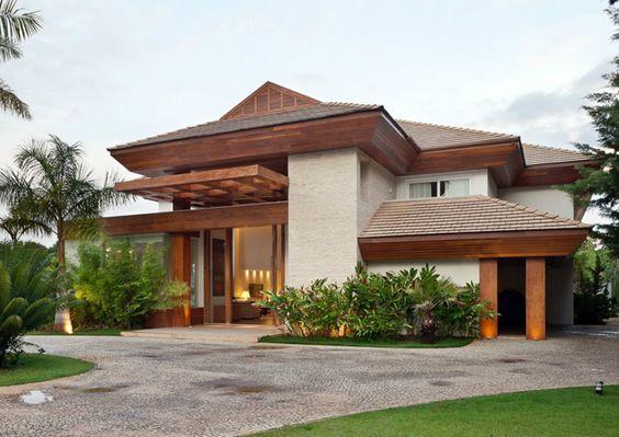 Casa rústica moderna en madera