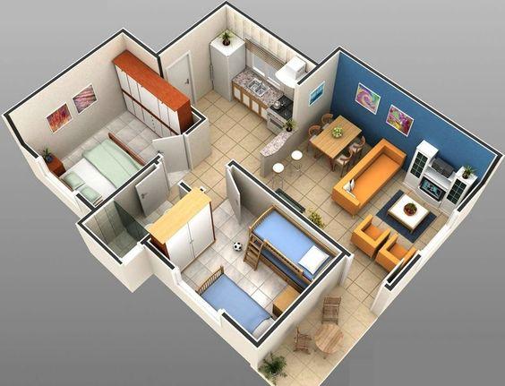 Casa sencilla con 2 habitaciones