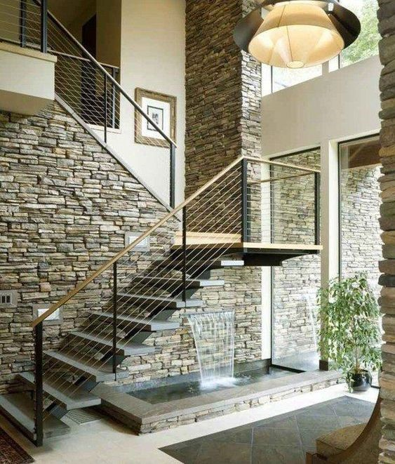 Casas con piedra en pared