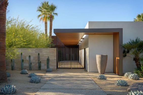 Cómo se ve una casa minimalista sin cochera