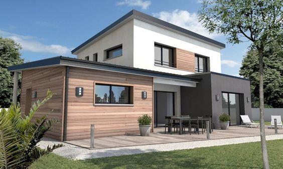 Estilo moderno para fachada de casa sin cochera