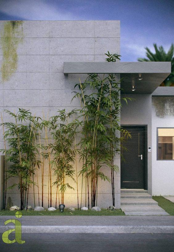 Fachada de concreto minimalista para casa
