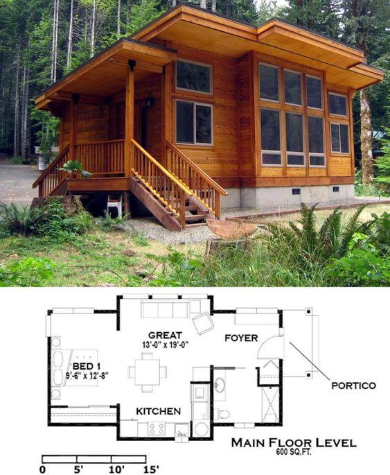 Plano de casa de campo moderna