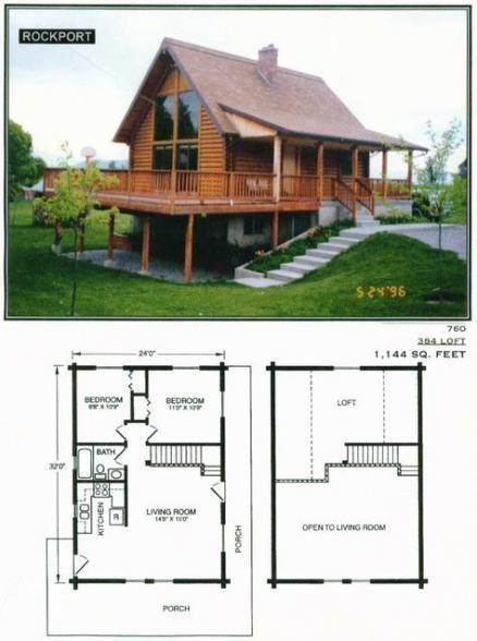 Planos para casa de campo de 2 niveles