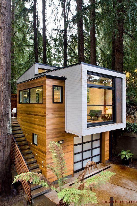 Casa con fachada moderna minimalista