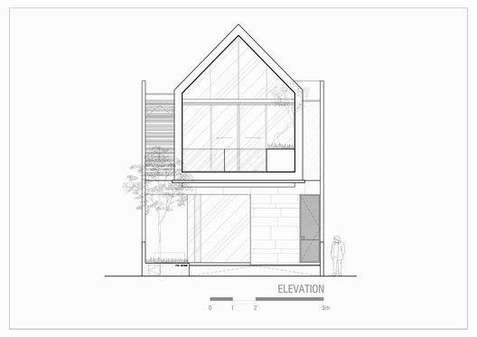 Casa con techo en punta para fachada