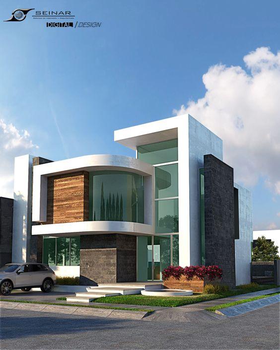 Casa en esquina con fachada moderna
