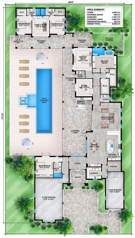 Casa lujosa con cocheras separadas