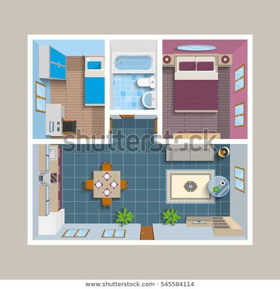 Casa sencilla con plano para áreas comunes
