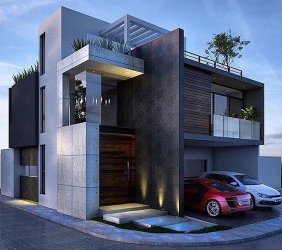 Doble vista para fachada de casa en esquina