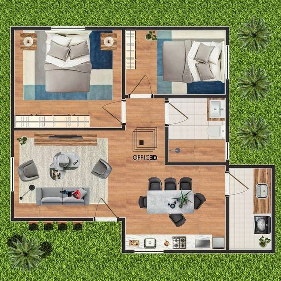 Espacio pequeño para plano de casa sencilla