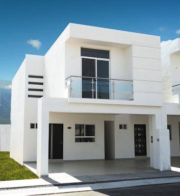Estilo sencillo para fachada en color blanco