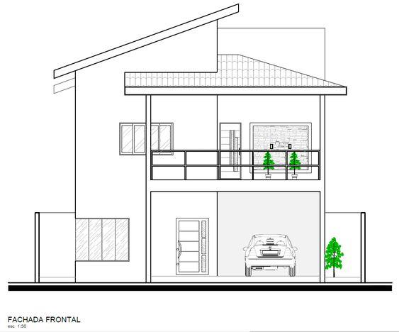 Fachada de casa grande de 2 pisos y balcón