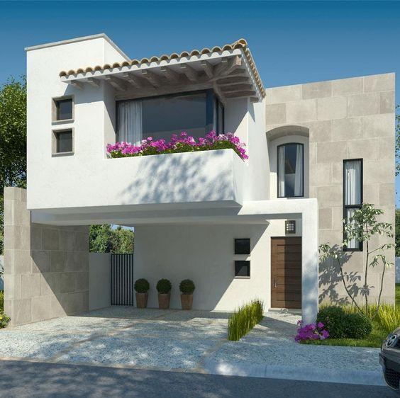 Muros de piedra para fachada moderna de dos pisos