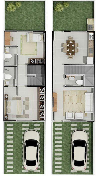Planos de casas de infonavit de casa de dos pisos