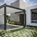 Cocheras con jardín para casas pequeñas