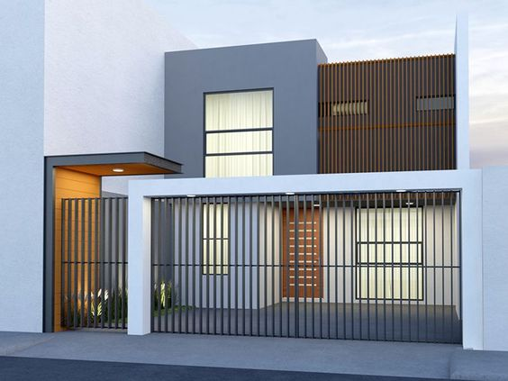 Cocheras minimalistas para casas pequeñas
