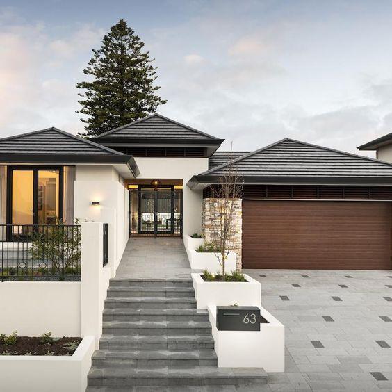 Diseños de casas de una planta con teja