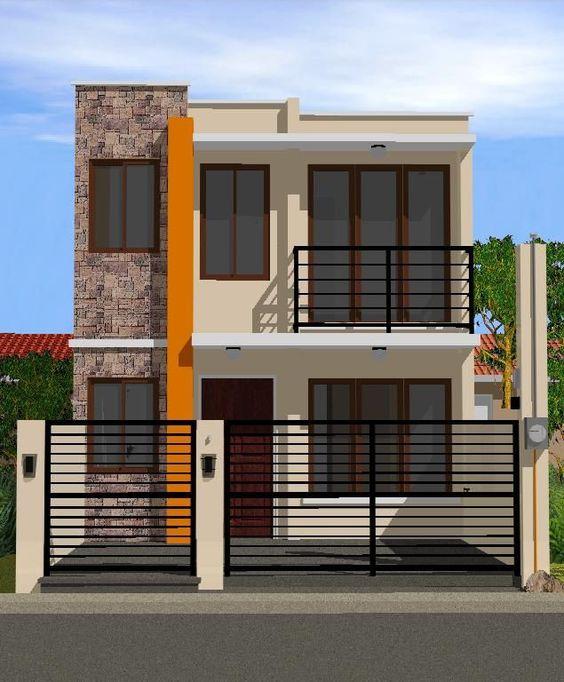 Fachadas de casas de infonavit de 2 pisos