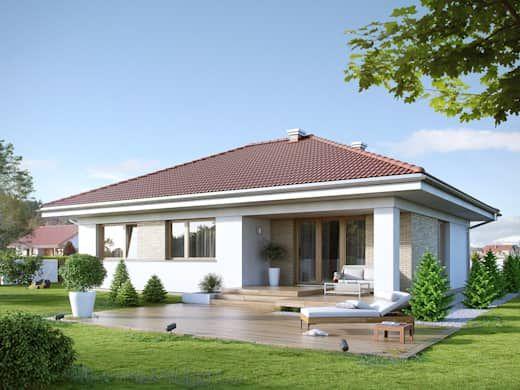 Fachadas de casas de una planta sencillas