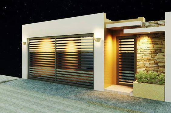 Fachadas de casas pequeñas con cochera