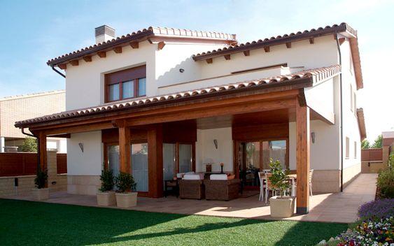 Fachadas de casas tipo hacienda