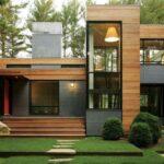 Diseños de casas de cemento y madera
