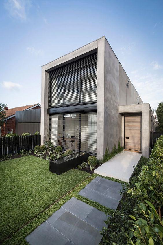 Casas de cemento elegantes