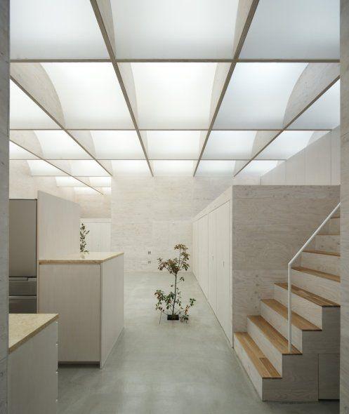 Tragaluz de techo en casas sin ventanas