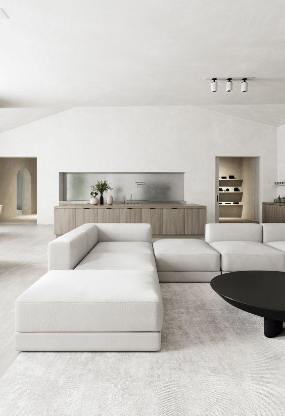 Interiores de casas sin ventanas introspectivas