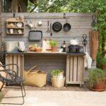 Diseños de cocinas rústicas pequeñas al aire libre