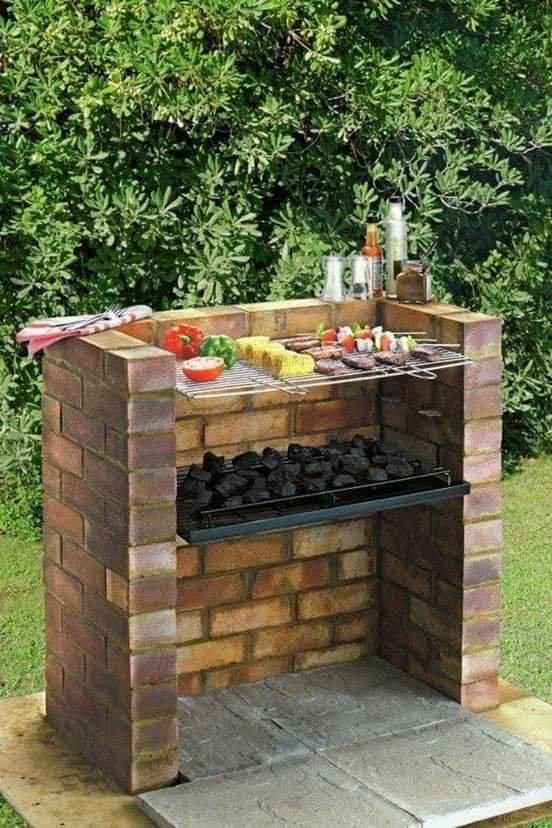 Opciones de cocinas al aire libre de ladrillo