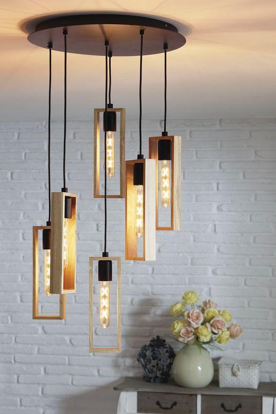 Accesorios decorativos de madera modernos