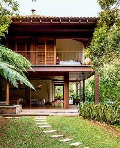 Diseños de casas de campo de dos plantas
